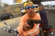 A young Brazilian man wearing a Hollister shirt
