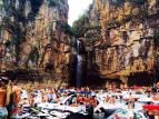 Speedboats and yachts fill Escarpas do lago, Minas Gerais during the 2014 Easter break.