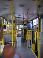 Brazilian bus-conductors take cash and let passengers through the turnstile