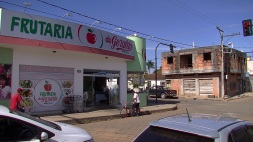 "Candy-coloured Frutaria in a small town in Brazil's agricultural heartland, the ""Minerao Triangle"""