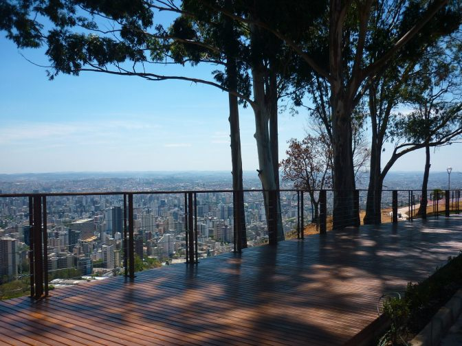 Incredible view over the city of Belo Horizonte from the hills of Mirante, Mangabeiras