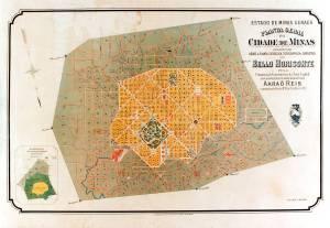 Map of Belo Horizonte when it was originally built