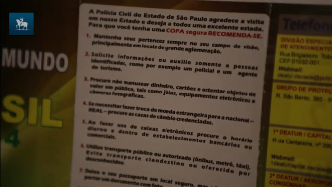 """Don't react, don't shout and don't argue."" Sao Paulo head's armed robbery safety tips for World Cup tourists"