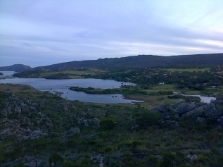 The lakes of Lapinha da Serra from the mountainside