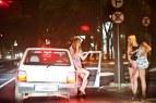 Brazilian prostitutes waiting for customers on Avenida Alfonso Pena, Belo Horizonte, Brazil.
