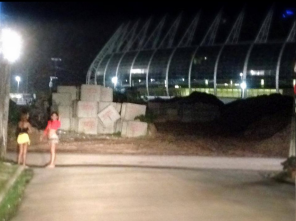 Child prostitution in the shadow of the Castelão World Cup stadium in Fortaleza, Brazil.