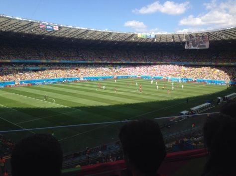 Photo from inside the stadium at the England - Costa Rica game World Cup 2014 Beautiful