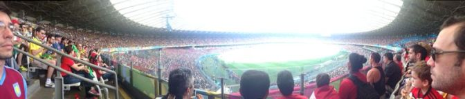 Photos from inside the stadium at Snoozefest 2014, or the England vs Costa Rica World Cup game
