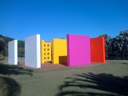 Multi-coloured walls in Inhotim by Helio Oiticica