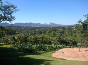 The surrounding mountains around Inhotim.